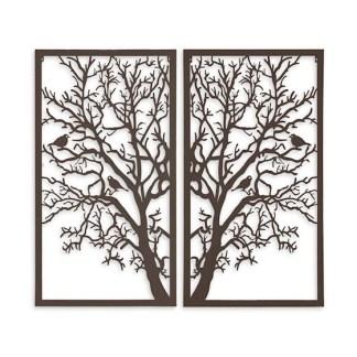 Levensboom wanddecoratie tweeluik