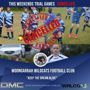 This Weekends Trial Games – CANCELLED