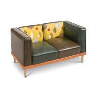 KARE Sofa Leaf Braun Lederoptik online kaufen bei WOONIO