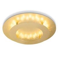 Paul Neuhaus LED Deckenleuchte Nevis 40cm A++ Gold Alu ...