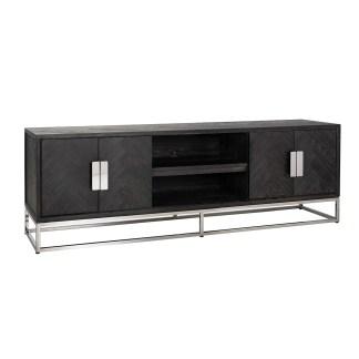 TV-dressoir 185 Blackbone silver 4-deuren (Zilver)
