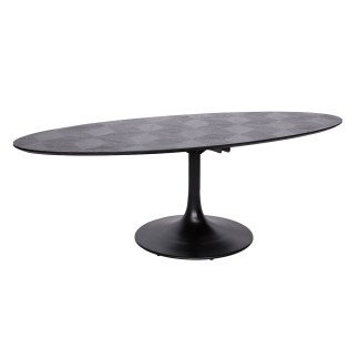 Eettafel Blax Ovaal 230x100 (Zwart)