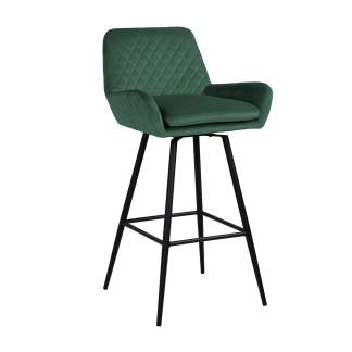 Barstoel Linsey draaibaar Green Velvet (Quartz Green 501)