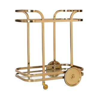 Trolley X.O. goud met glas (Goud)