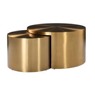 Salontafel Big & Rich set van 2 brushed gold (Brushed Gold)