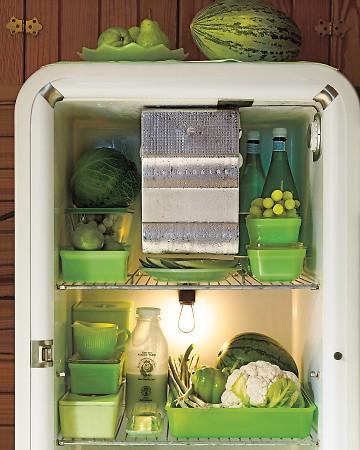 een mooi gestylde koelkast... wow...
