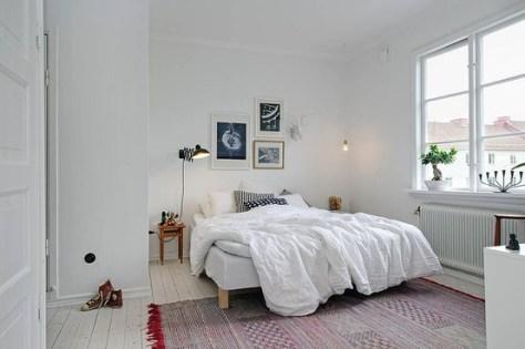 slaapkamer met bonsai boompjes