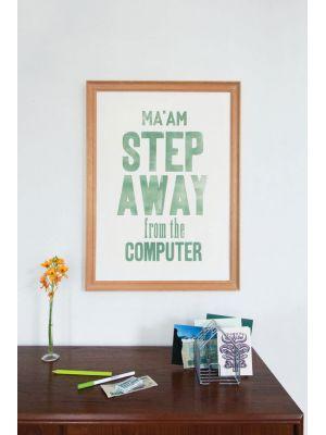 poster step away