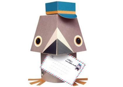 papieren duif van Mibo via Djello
