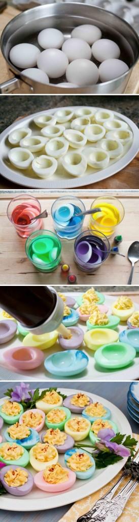 gekleurde gevulde eieren via loldamn