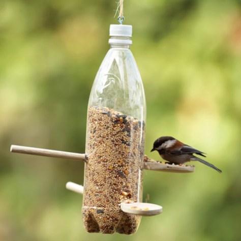 een leuke vogelvoederplaats via welke