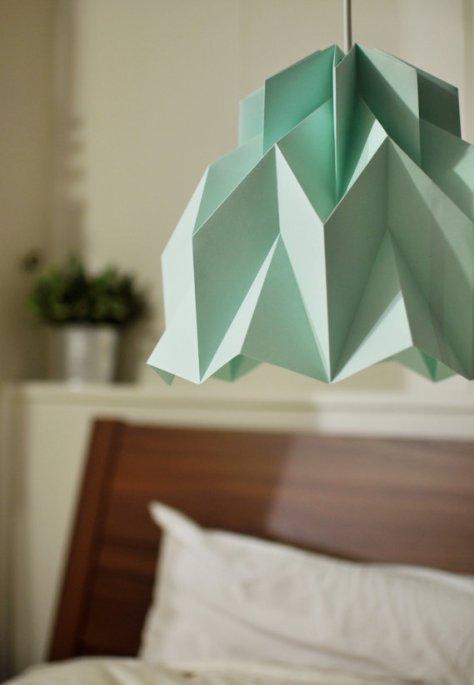 origami lamp ruffle via fiberlab