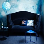 koningsblauw in het interieur
