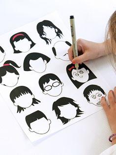 gezichten tekenen via dabblesandbabbles