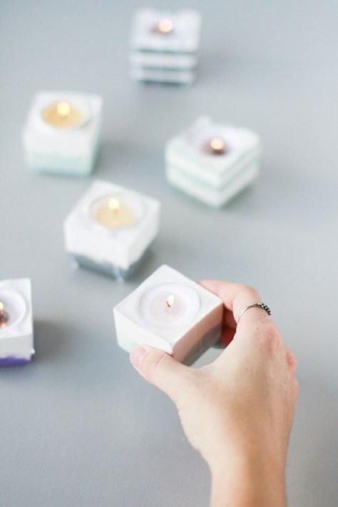 DIY idee met gips en dipped dyed via papernstitchblog