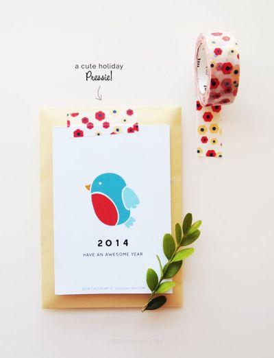 free printable kalender 2014