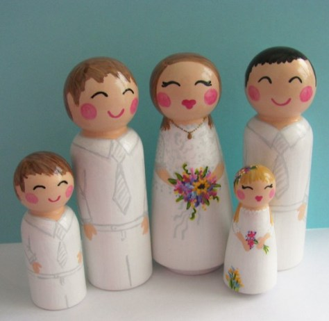 hand painted family via etsy