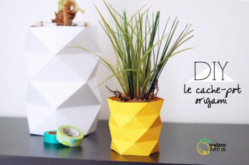 origami vaas via madame citron