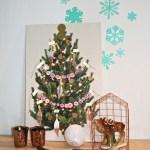 een houten kerstboom om te versieren