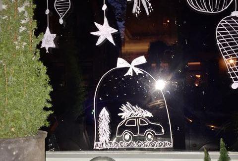 raamtekening voor kerst