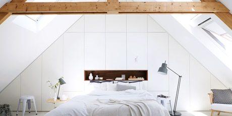 een zolder als slaapkamer