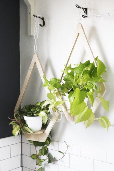 een houten plantenhanger maken