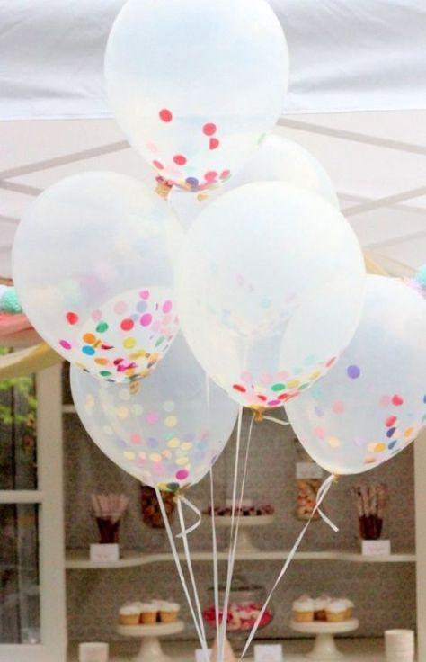 balonnen met confetti