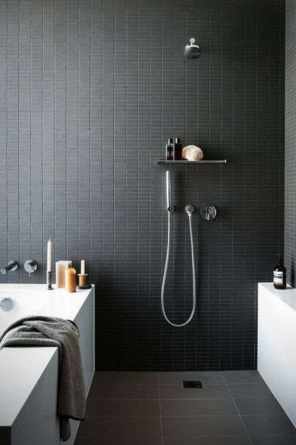 Badkamer Kleine Zwarte Steentjes Woontrendz