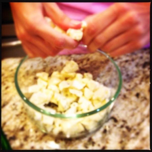 Making Cheese Dip