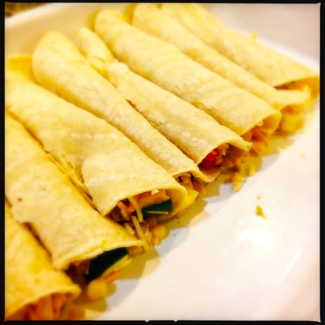Enchiladas in the pan