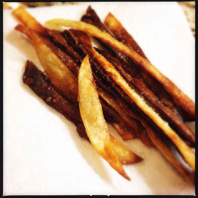 Fried tortilla strips