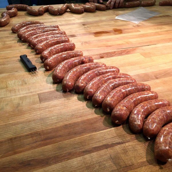 Finished sausages