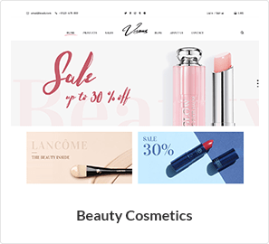 Beauty and Cosmetics Store theme