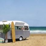 Campingvogn På Stranden