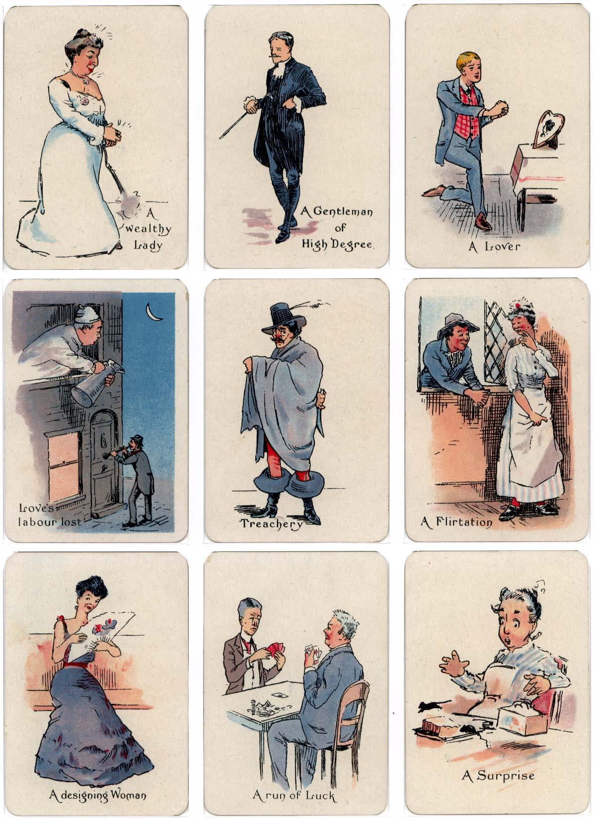 """Las tarjetas de adivinación """"Gipsy"""" publicadas por Thomas de la Rue y Co Ltd., c.1910"""