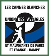 """Logo de l'association """"les cannes blanches"""""""