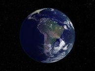 El planeta tierra mostrando sudamerica