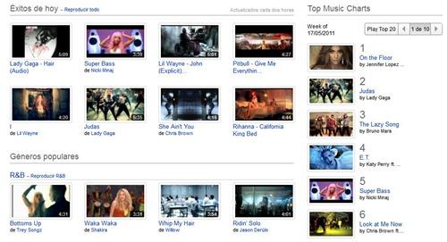 Top 100 de YouTube Music