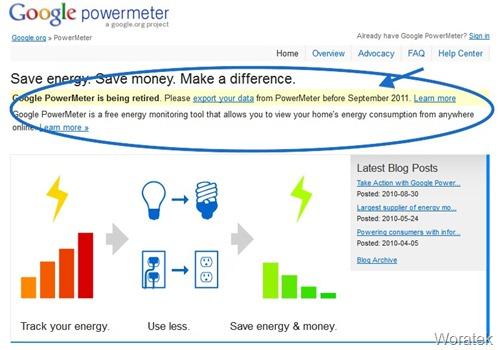 Google retira PowerMeter