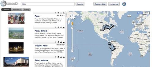 Wikihood, Wikipedia y Google Maps para información