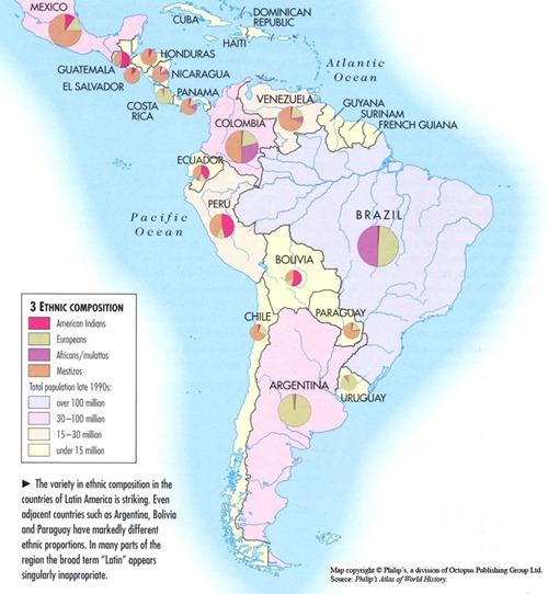 Composición étnica de Latinoamérica