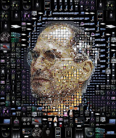 Steve Jobs collage