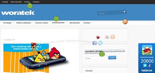 Jugar Angry Birds en páginas web 3