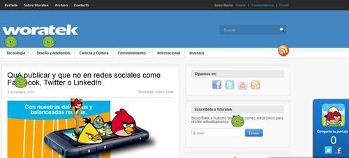 Jugar Angry Birds en páginas web
