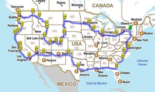 Viaje por estados unidos