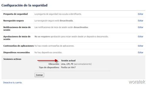 Configuracion seguridad Facebook 1