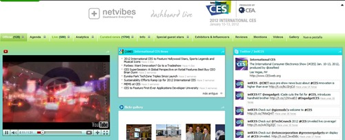 CES 2012 netvibes