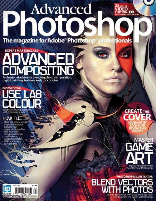 Portada de revista advanced-photoshop-issue-67