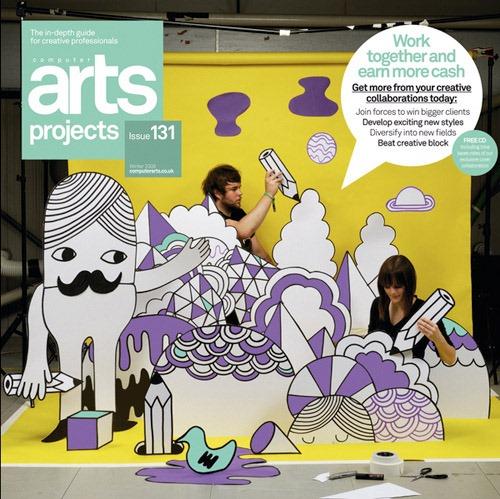 Portada de revista arts-projects-issue-131