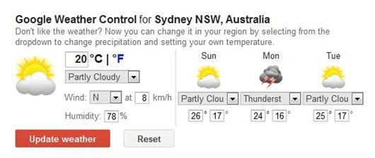 El tiempo por Google en 1 abril